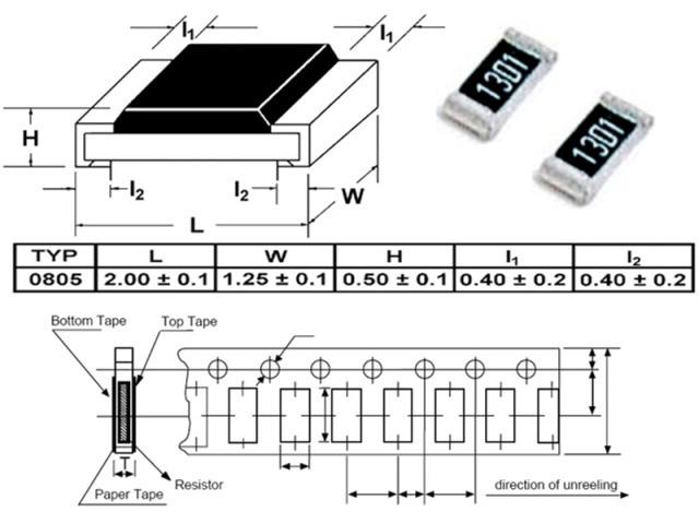Rezistor 2k2 0805 - 10ks