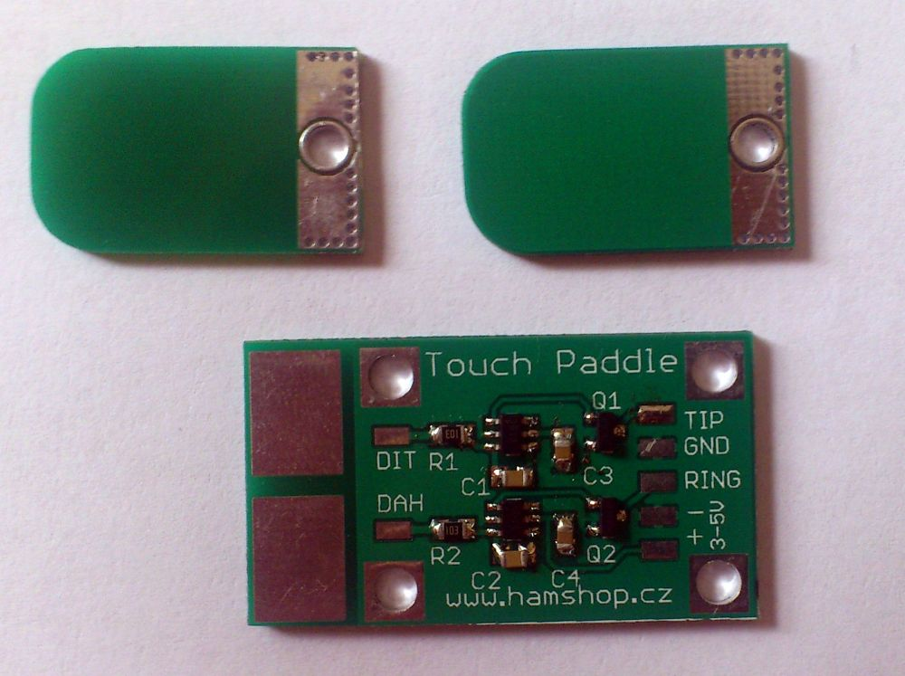 CW Touch paddle module with paddles