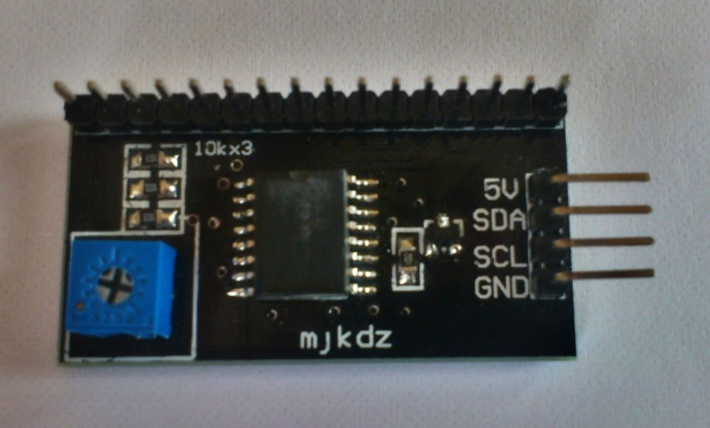I2C expander for LCD display 2x16