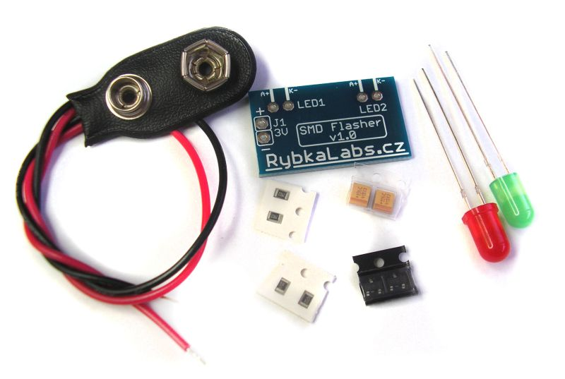 Simple flasher with SMD parts 10PCS