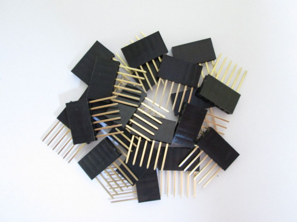 6 Pin 2.54mm Stackable Long Legs Female Header Arduino Shield