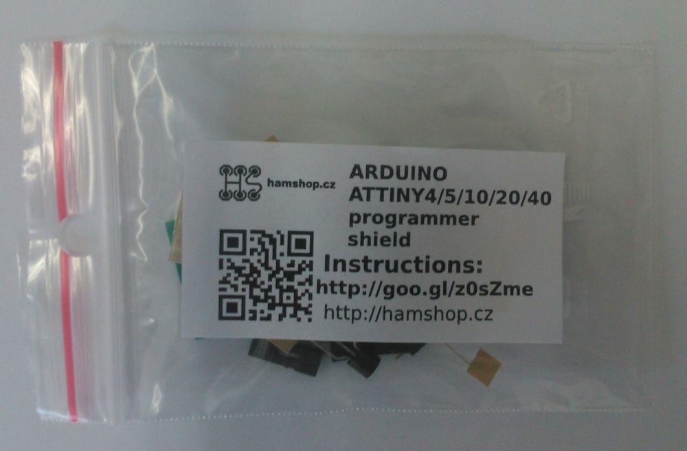 ARDUINO ATTINY4/5/9/10/20/40 programmer shield