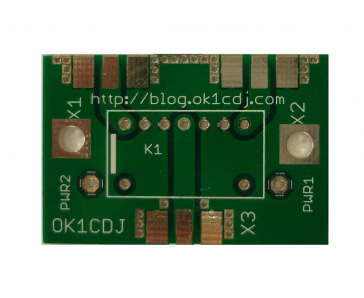 Microwave relay PCB