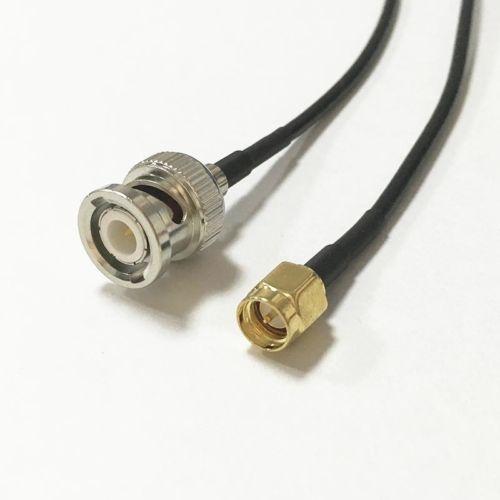 Kabel SMA (M) BNC (M) RG174 5m