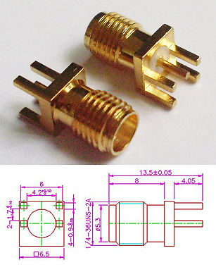 Connector SMA Female for PCB