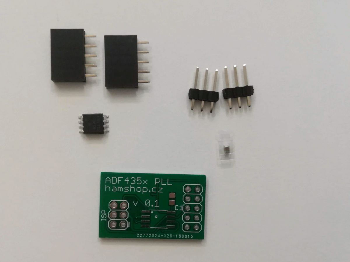 ADF4351 ovládání s ATTiny13 stavebnice