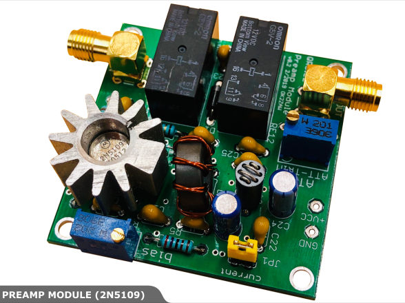 Preamp module with 2N5109 0.1 MHz to 60 MHz