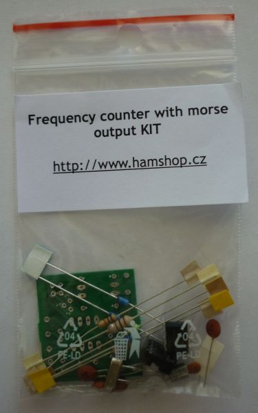 Frequency counter with morse output