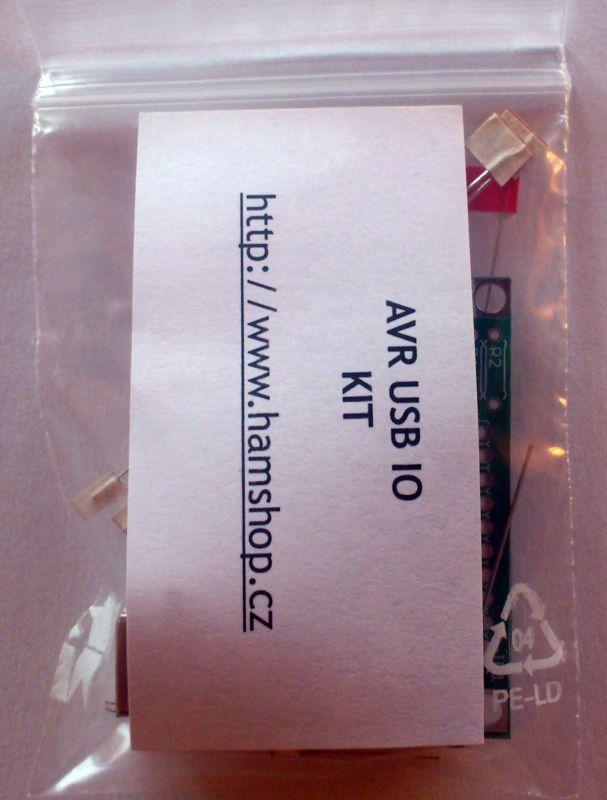 Stavebnice univerzální USB IO s ATTINY2313