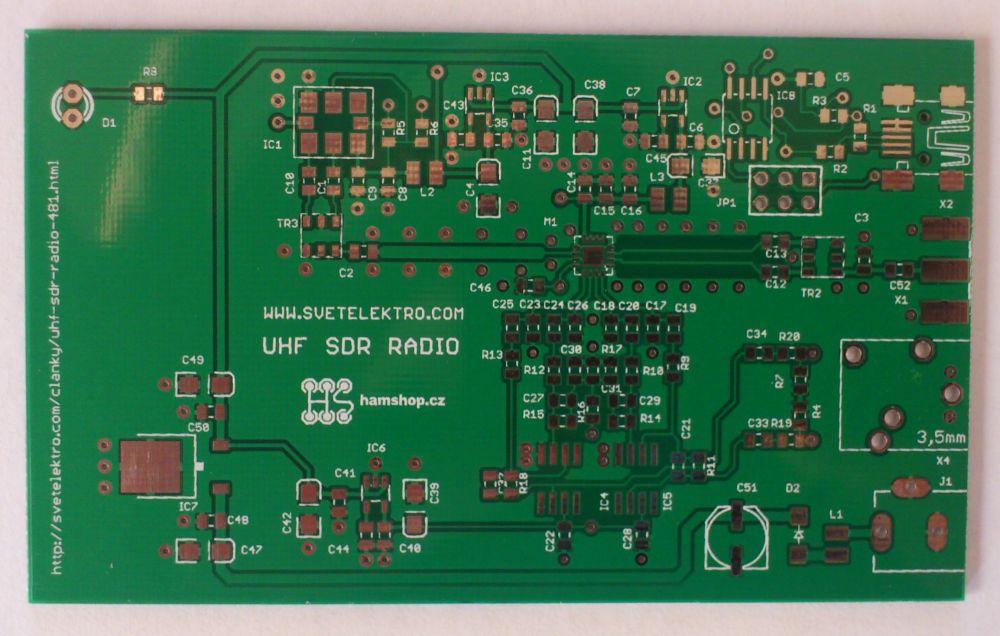 Plošný spoj -UHF SDR