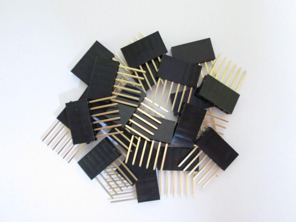 PIN lišta 6 pinů 2,54 mm extra dlouhé vývody