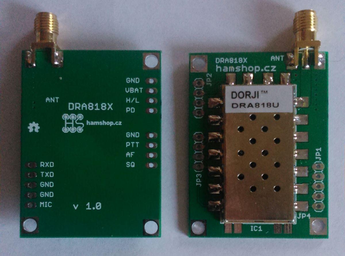 Modul UHF transceiveru 400~470MHz 1W DRA818U