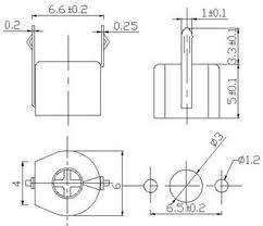 Kapacitní trimr 60pF