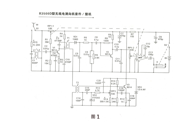 R3500D přijímač pro ROB (ARDF) 80m - stavebnice