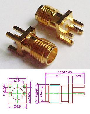Konektor SMA F do plošného spoje